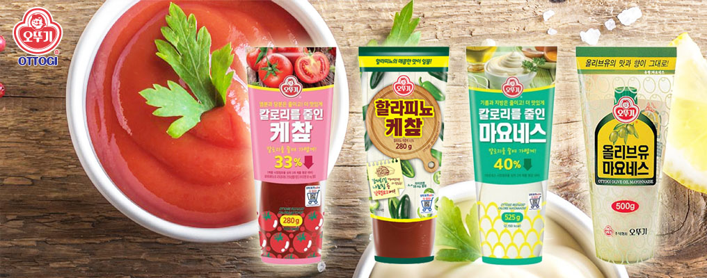 Ottogi's Best series of Ketchup and Mayonnaise has arrived in the USA